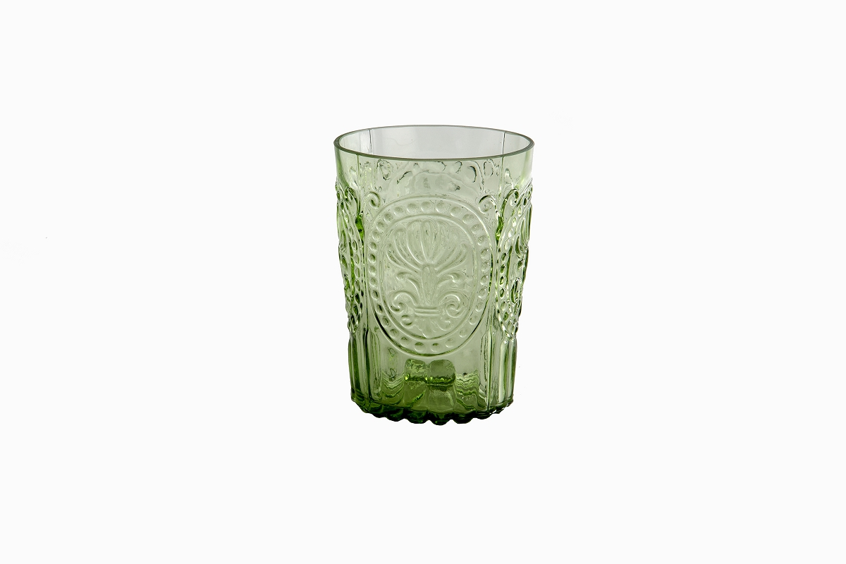 Decorative drinking glasses green