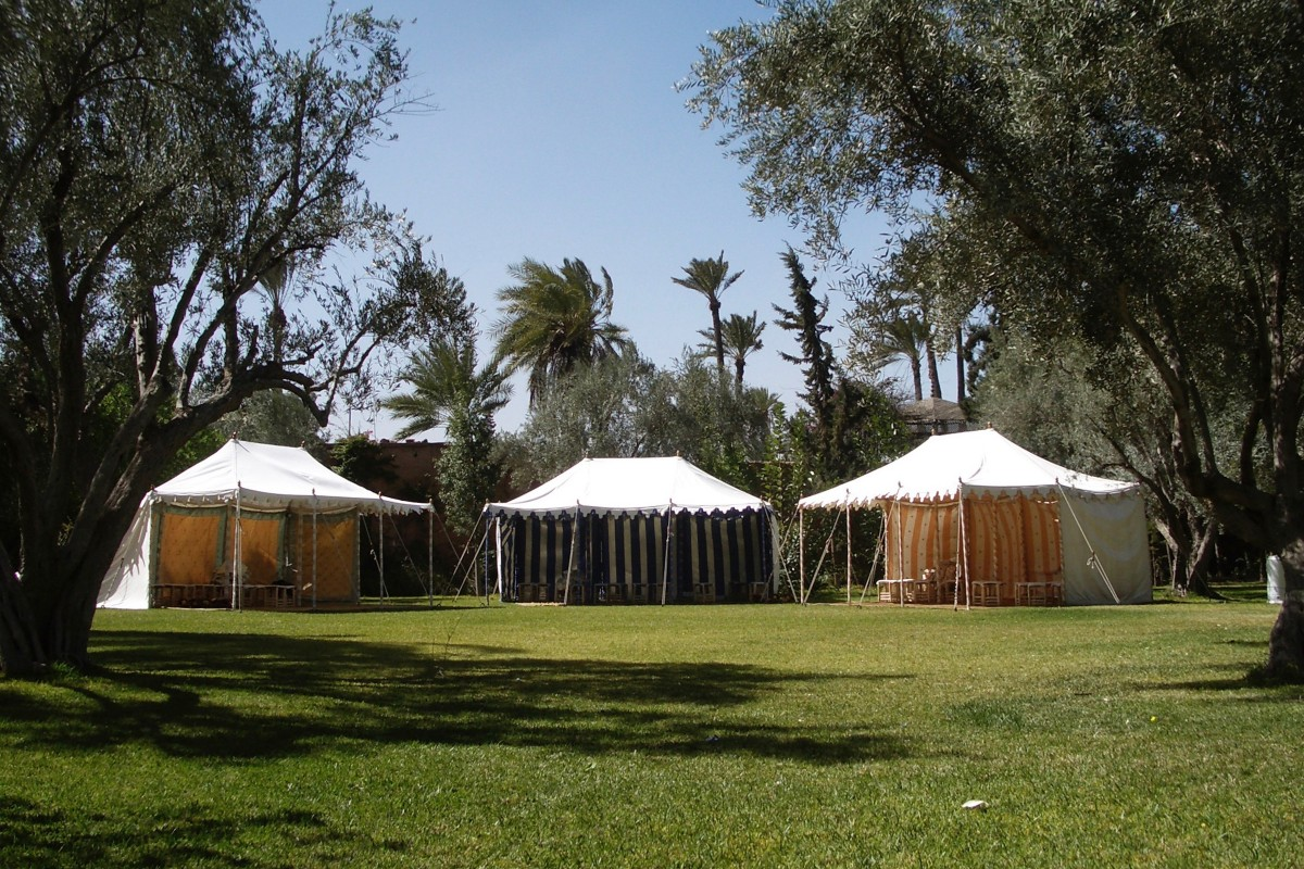 Three Traditional Raj Tents in Marrakech