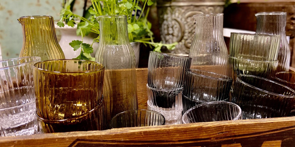 Header shot grooved glassware