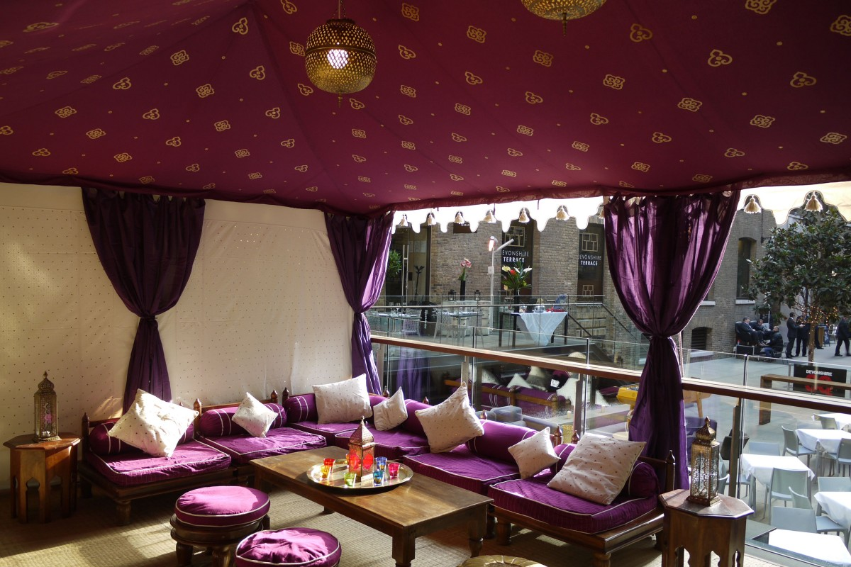 Venue pic Tent interior at Cinnamon Kitchen, City of London