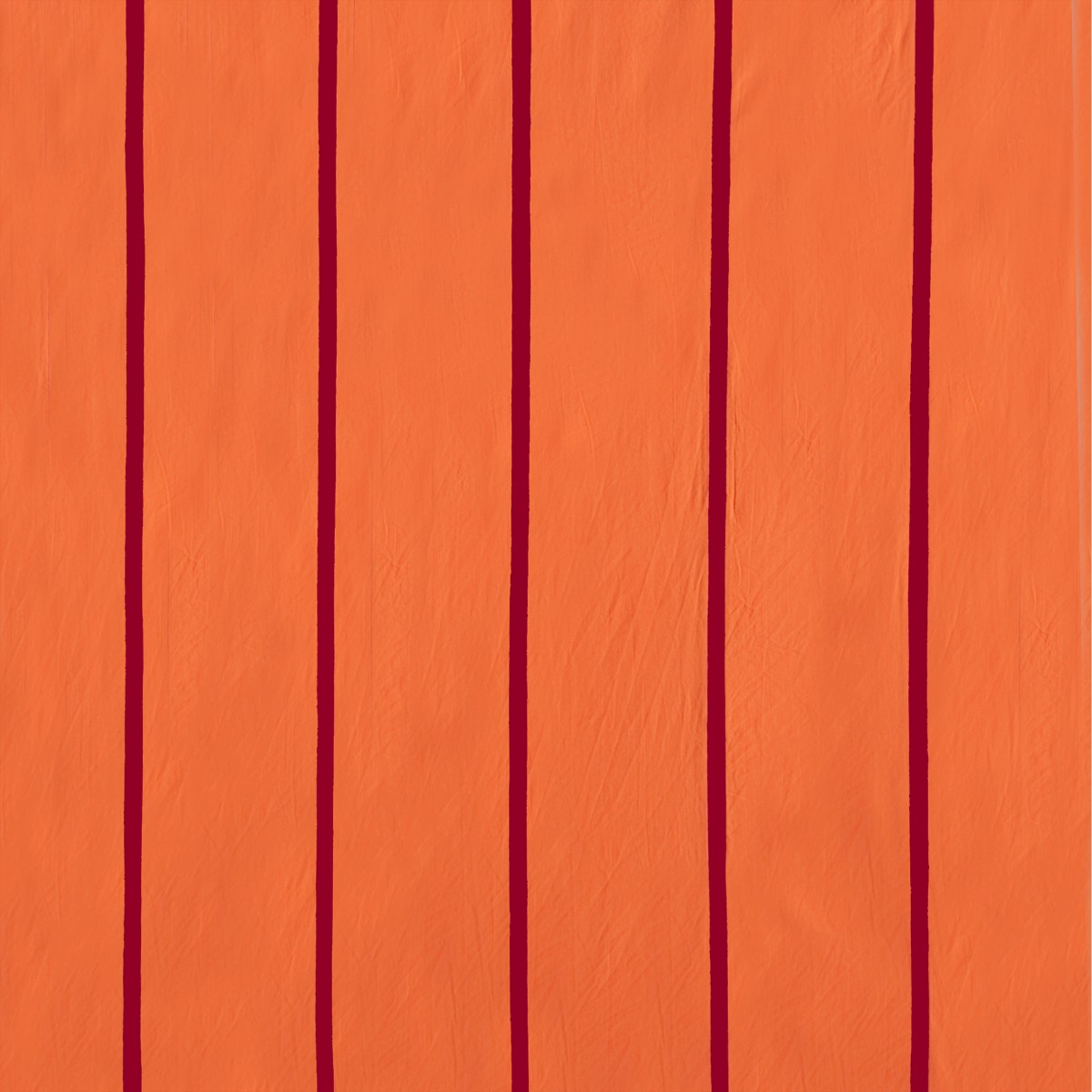 Orange and magenta stripe wall