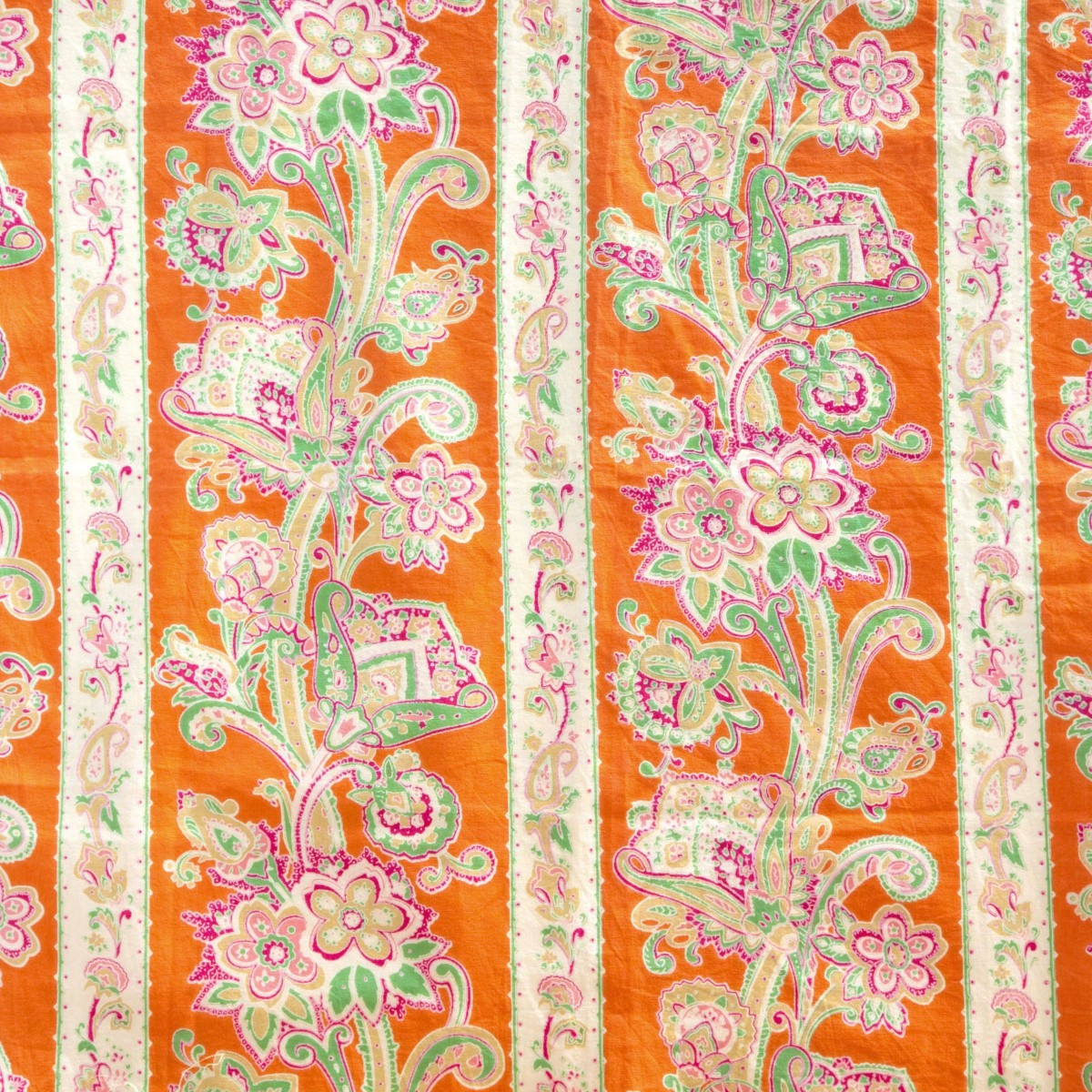 Provencal orange pink flower drape