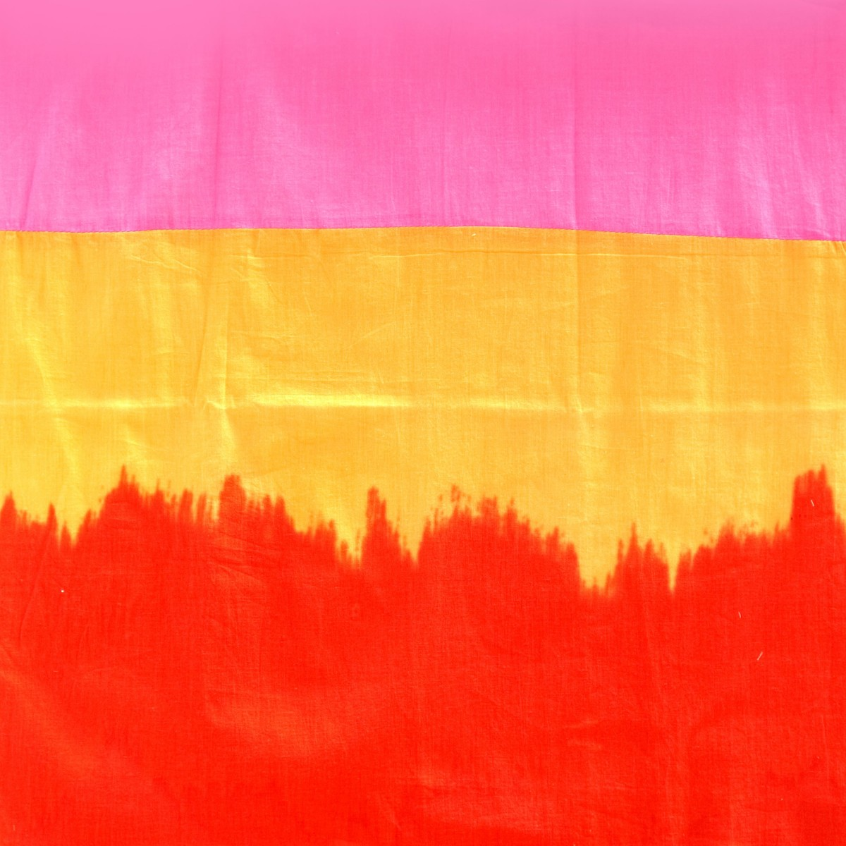 Shaded pink orange red drape