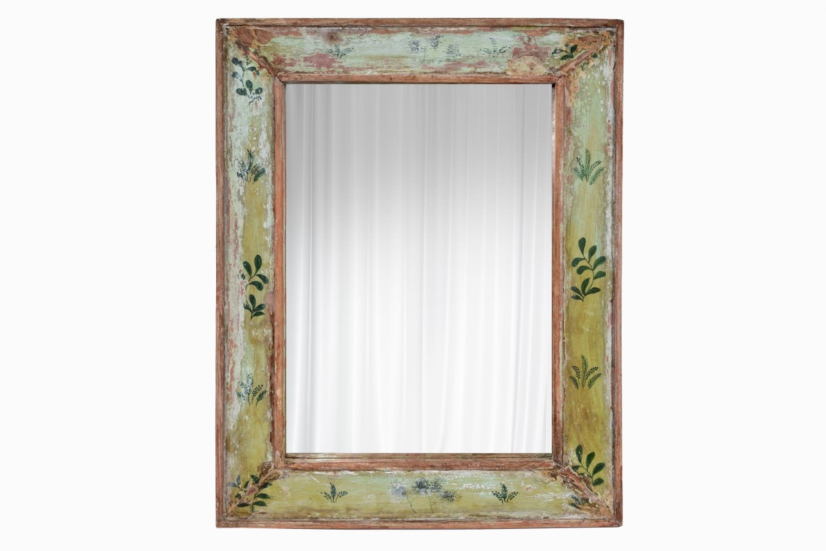 Indian mirror with hand painted frame Ref 1