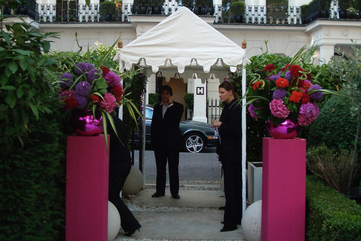 A walkway unit used as an entrance tent