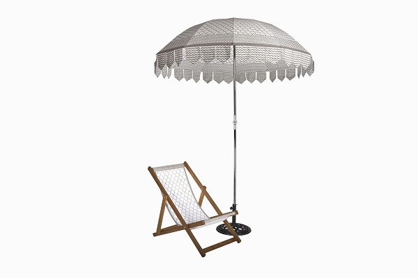 Jalli Parasol and deckchair taupe