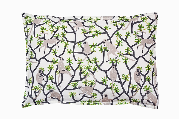 Langur monkey pillowcase side 1