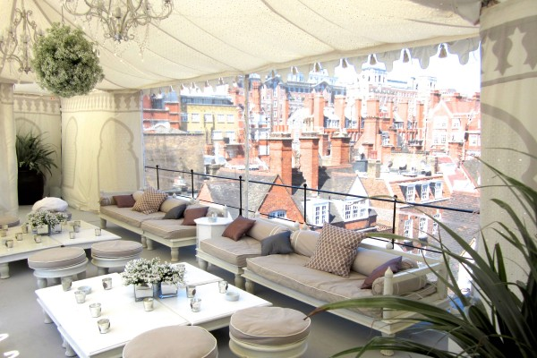 Venue pic private roof terrace Mayfair
