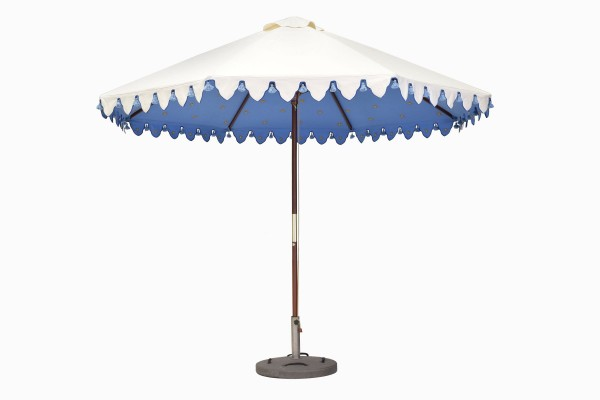 Sunshade celeste blue gold star lining