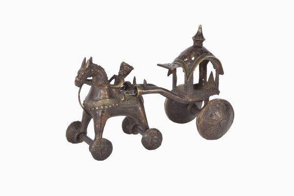 Bronze horse rider and chariot