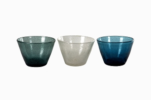 Bubble glass bowls