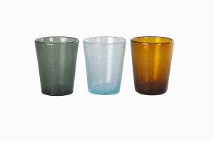 Bubble glass tumblers