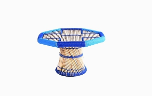 Childrens bamboo_cane table blue