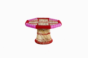 Childrens bamboo_cane table pink