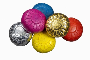 Childrens leather pouffes