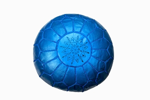 Childrens pouffe bright blue