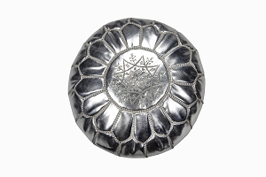 Childrens pouffe silver