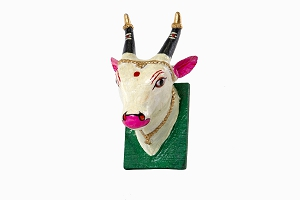 Hand painted wooden Holy Cow