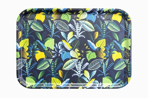 Jungle tray tropical leaves