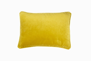 Velvet pillow lemon