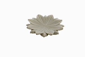 Marble lotus dish small