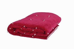 Quilted Velvet bed throw Cerise