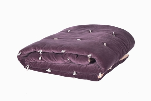 Quilted Velvet bed throw Violet