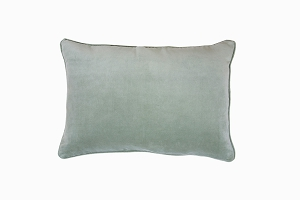 Velvet pillow soft lime