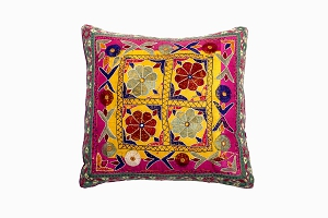 Vintage Gujurati Embroidered cushion
