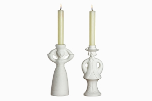Vintage candlesticks traditional couple