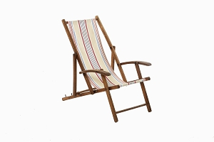 Vintage deck chair for a child