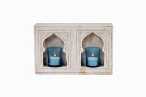 Double marble niche