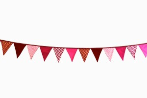 Bunting red and pink mix