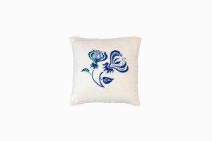 BLUE CLIMBING FLOWER CUSHION (SINGLE) (30CM X 30CM)