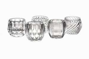 Swedish clear glass votives
