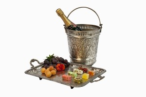 Champagne bucket and tray