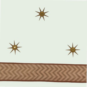 Dove egg gold star ceiling