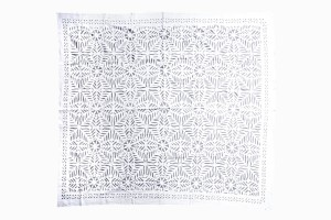 Cut out work cotton bedspread Ref BS3