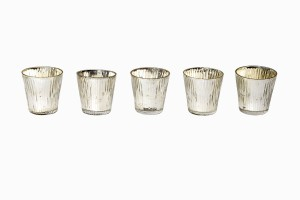 Grooved mirrored votives