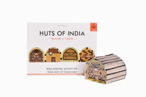Huts of India Tamil Nadu with made up hut