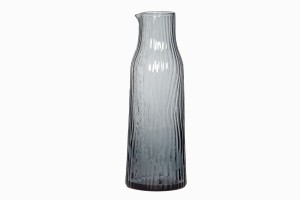 Grooved glass carafe smoke