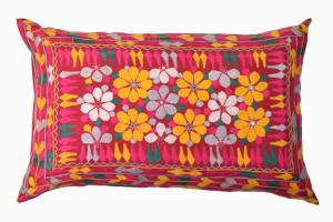 Large embroidered indian throw cushion
