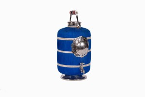 Indian water carrier bright blue