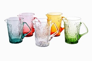 Decorative glass jugs