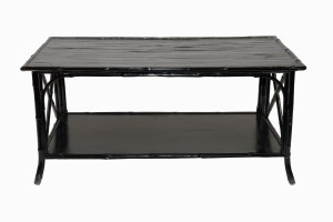Black bamboo table