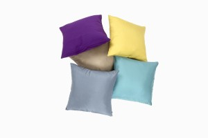 12 inch silk cushions, Steel, Bronze, Lemon, Teal and Plum