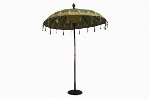 Balinese parasol olive gold