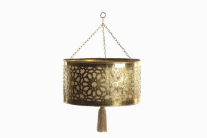 Moroccan brass light with tassel