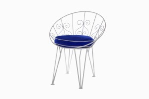 Deauville round metal chair