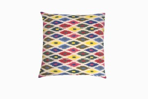 Multicoloured Ikat cotton floor cushion
